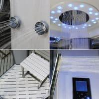 Insignia Platinum 1000mm x 1000mm Quadrant Steam Shower Cabin Customise Frame / Glass